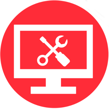 PC Repair Logo With Tools for Tech Support